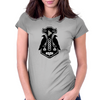 Norse Thor's Hammer with Ravens Womens Fitted T-Shirt