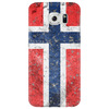 Norwegian Flag - Distressed Phone Case