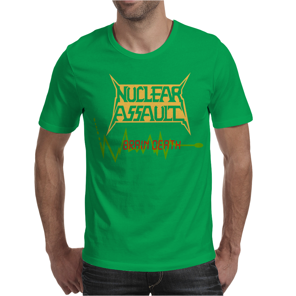 NUCLEAR ASSAULT BRAIN DEATH Mens T-Shirt