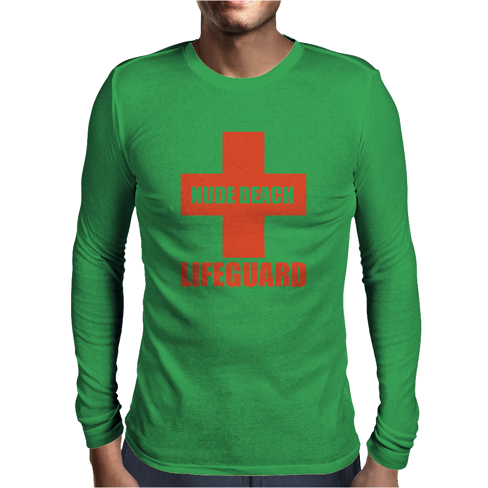 Nude Beach - Lifeguard Mens Long Sleeve T-Shirt