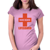 Nude Beach - Lifeguard Womens Fitted T-Shirt
