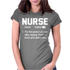 Nurse The first person you see after saying hold my drink and watch this Womens Fitted T-Shirt