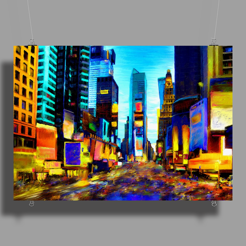 NY Times Square Poster Print (Landscape)