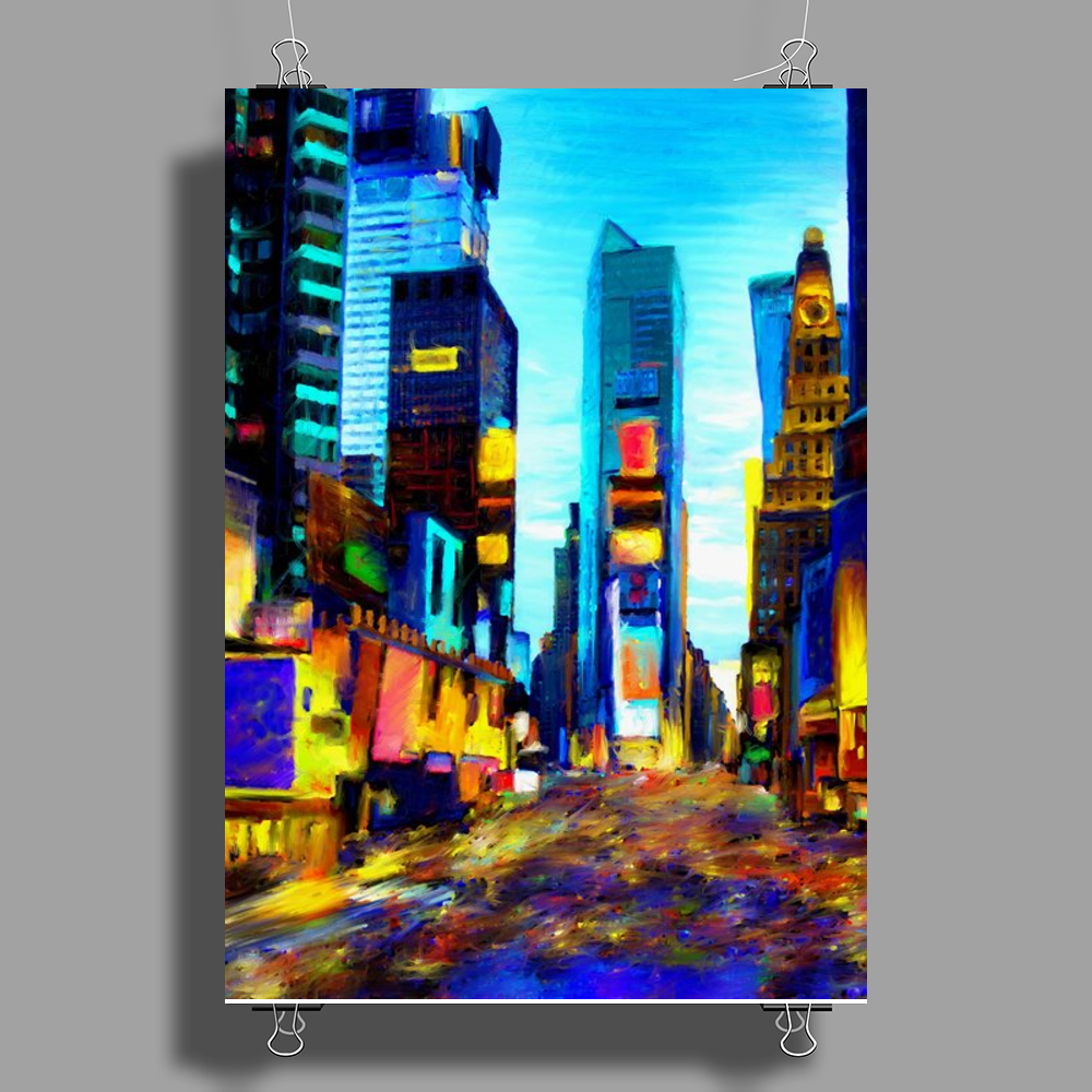 NY Times Square Poster Print (Portrait)