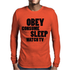 OBEY CONSUME Mens Long Sleeve T-Shirt
