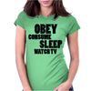 OBEY CONSUME Womens Fitted T-Shirt