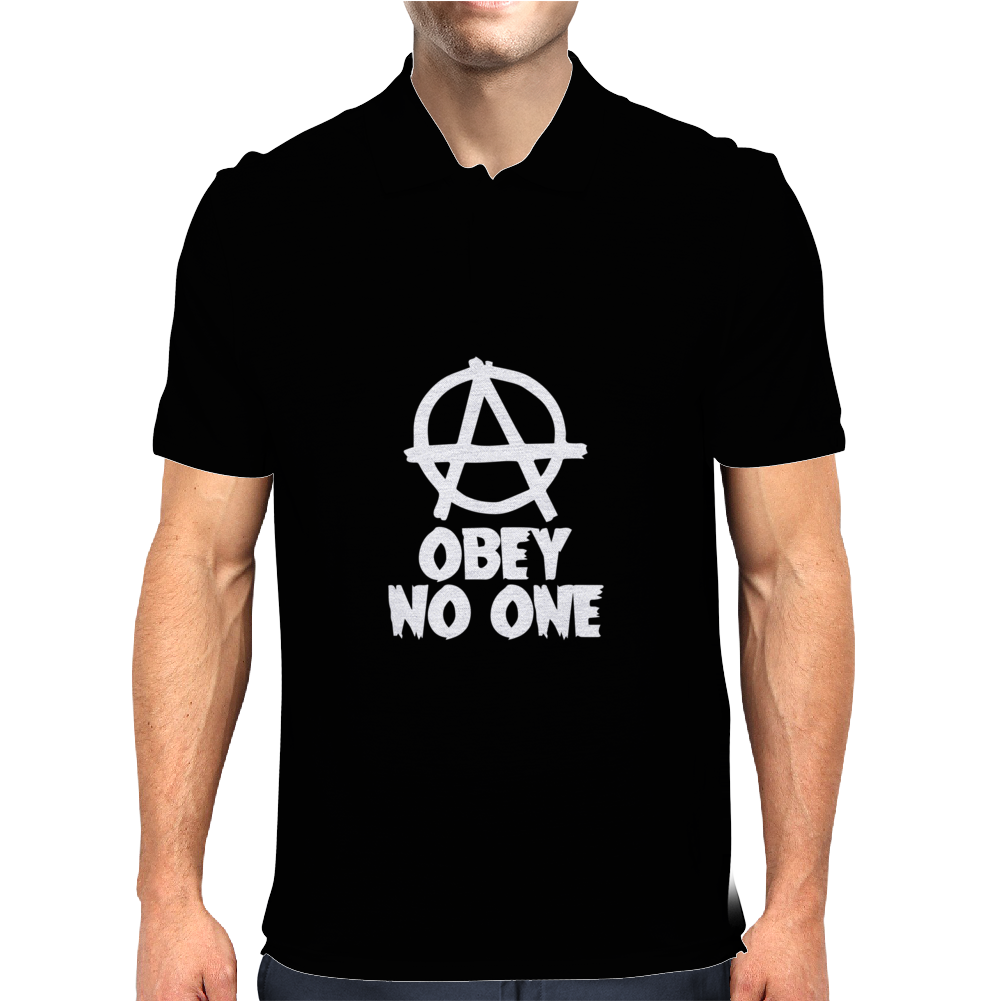 Obey No One Mens Polo