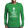 Obey The Beard Mens Long Sleeve T-Shirt