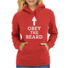 Obey The Beard Womens Hoodie