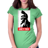 Obey this finger! Womens Fitted T-Shirt