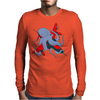 Octopus and aircraft Mens Long Sleeve T-Shirt