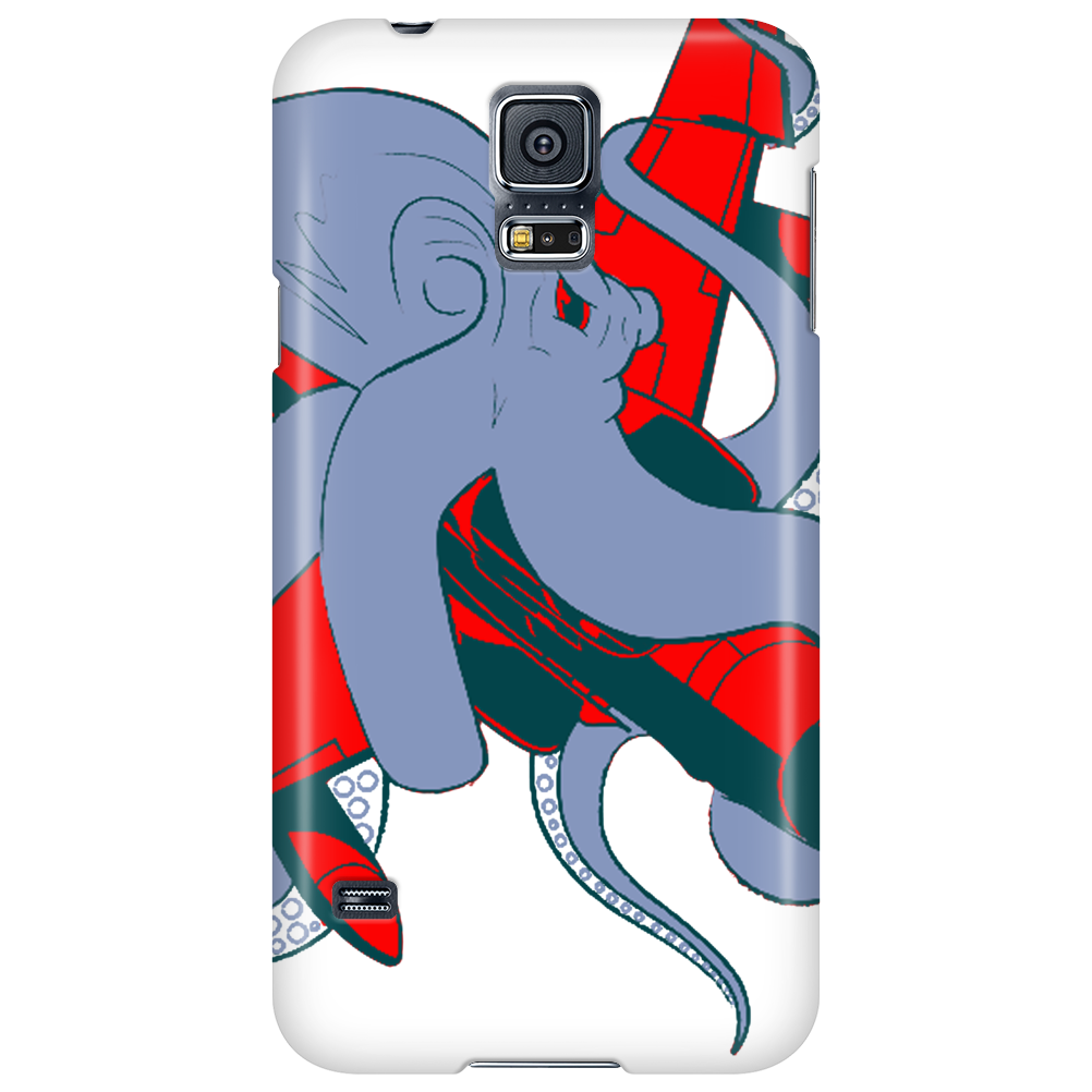 Octopus and aircraft Phone Case
