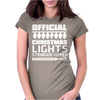 Official Christmas Lights Stringer Upper Womens Fitted T-Shirt