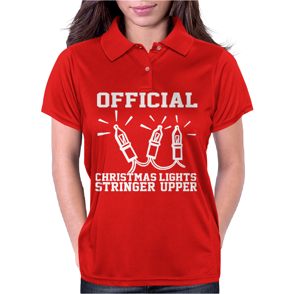 Official Christmas Lights Stringer Womens Polo