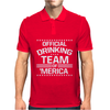 Official Drinking Team 'Merica Mens Polo