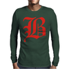 Og B Red Mens Long Sleeve T-Shirt