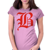 Og B Red Womens Fitted T-Shirt