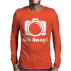 Oh Snap Camera Mens Long Sleeve T-Shirt