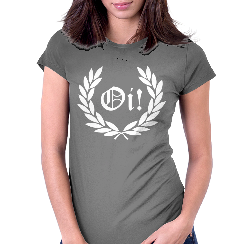 Oi Laurel Punk Rock Womens Fitted T-Shirt