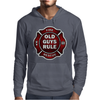 Old Guys Rule Badge Of Honor Mens Hoodie