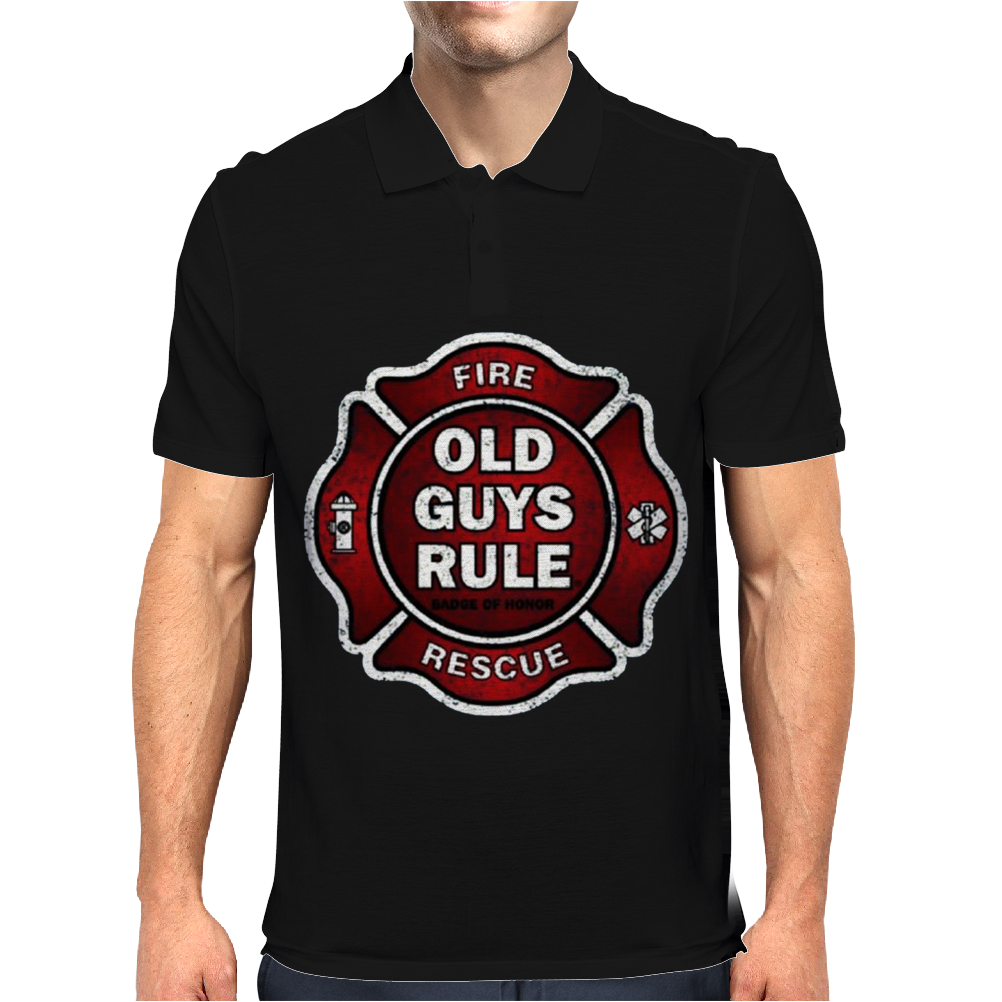 Old Guys Rule Badge Of Honor Mens Polo