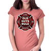 Old Guys Rule Badge Of Honor Womens Fitted T-Shirt