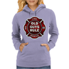 Old Guys Rule Badge Of Honor Womens Hoodie