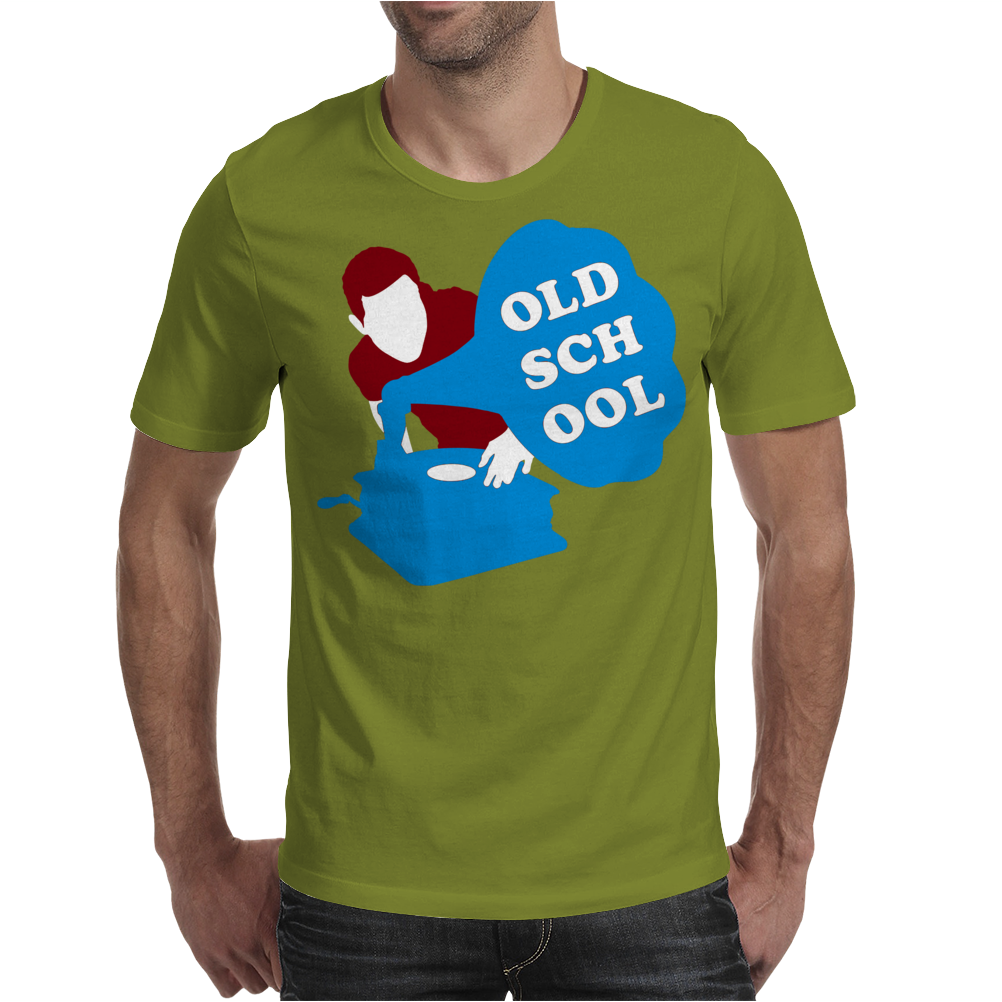 Old School Dj Mens T-Shirt