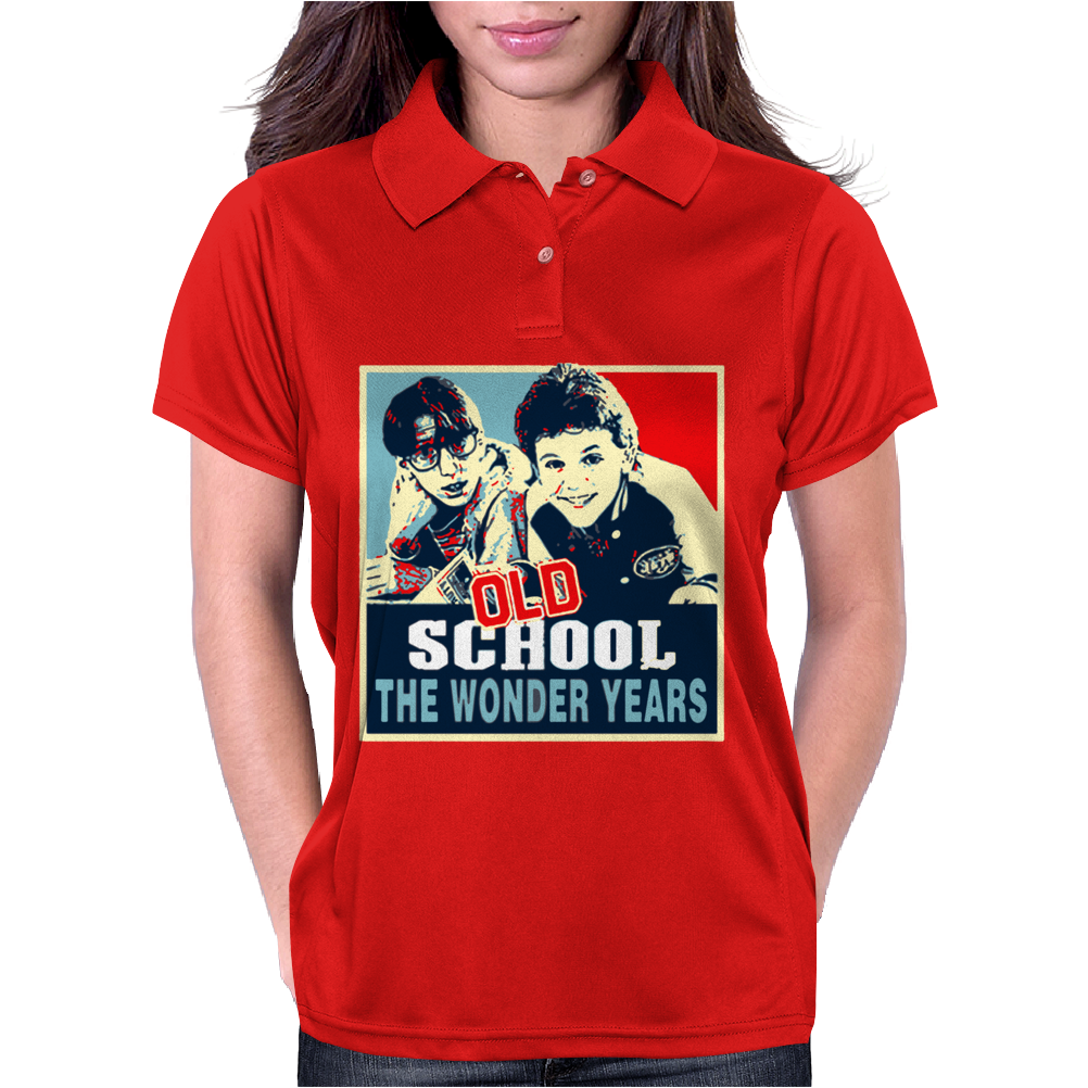 Old School Vintage Hope The Wonder Years Womens Polo