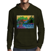 Olive and Cypress Trees by the river Mens Hoodie
