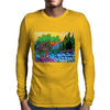 Olive and Cypress Trees by the river Mens Long Sleeve T-Shirt