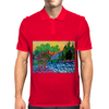 Olive and Cypress Trees by the river Mens Polo