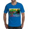 Olive and Cypress Trees by the river Mens T-Shirt