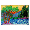 Olive and Cypress Trees by the river Tablet (horizontal)
