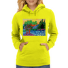 Olive and Cypress Trees by the river Womens Hoodie
