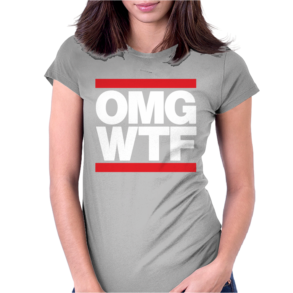 OMGWTF Womens Fitted T-Shirt