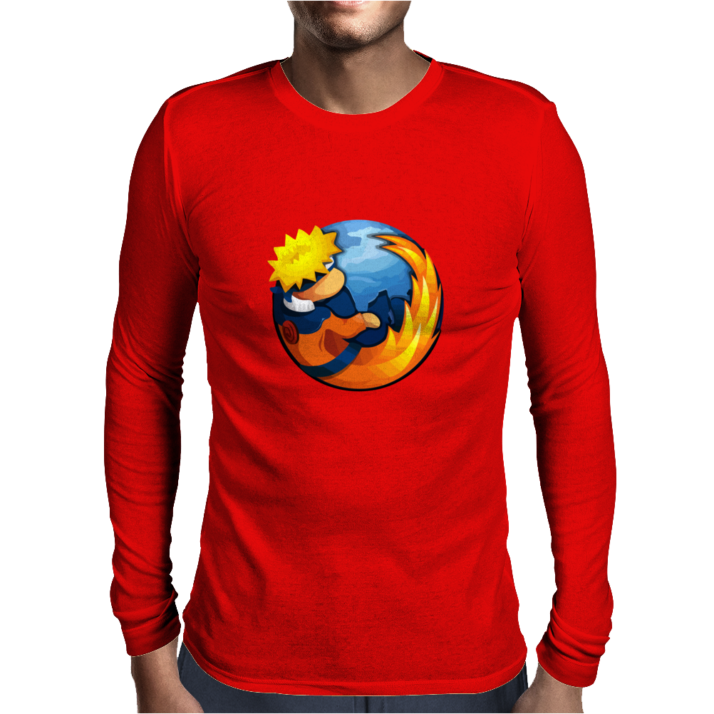 on fire Mens Long Sleeve T-Shirt