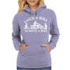 Once a Biker Always a Biker Motorcycle Womens Hoodie