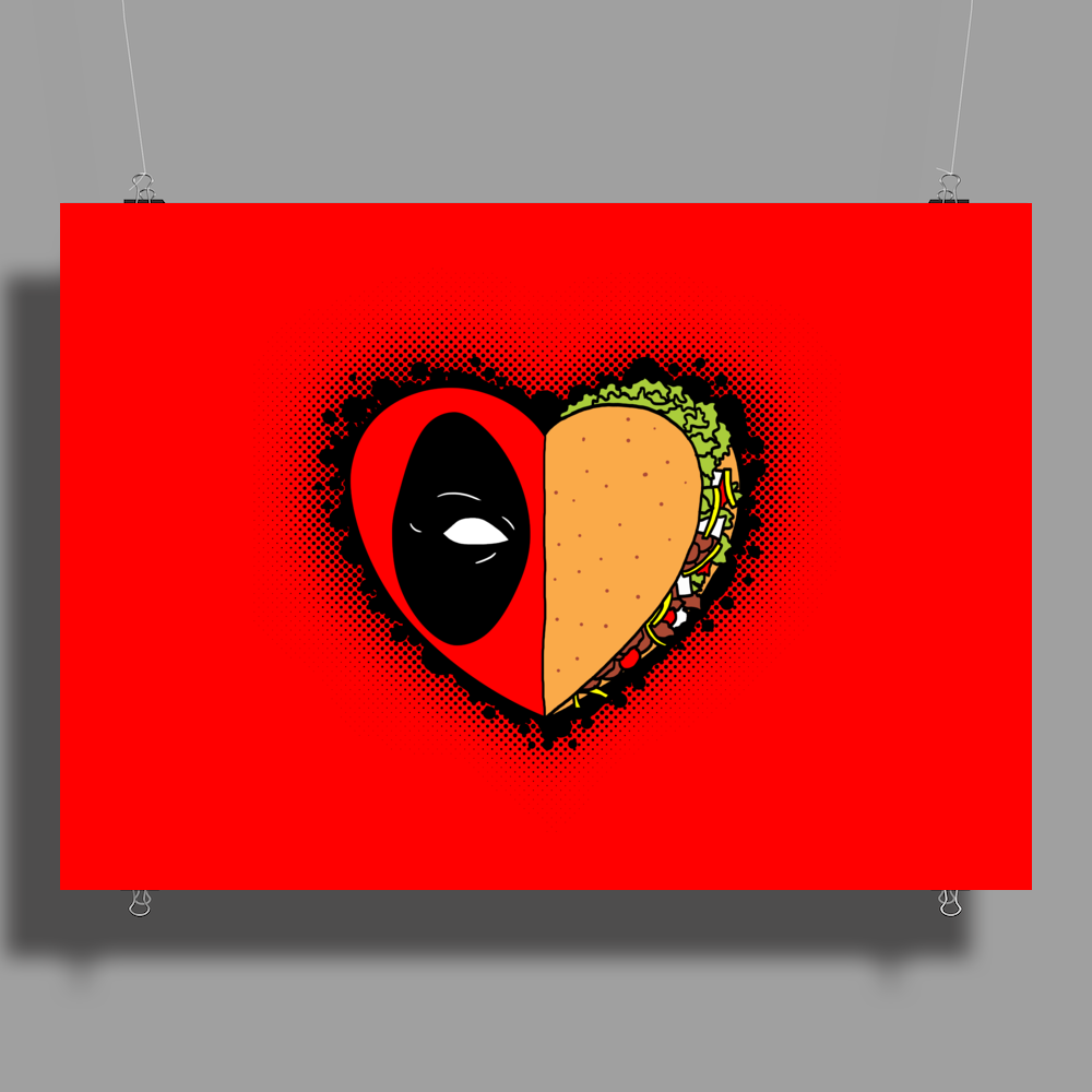 One Heart, One Taco Poster Print (Landscape)