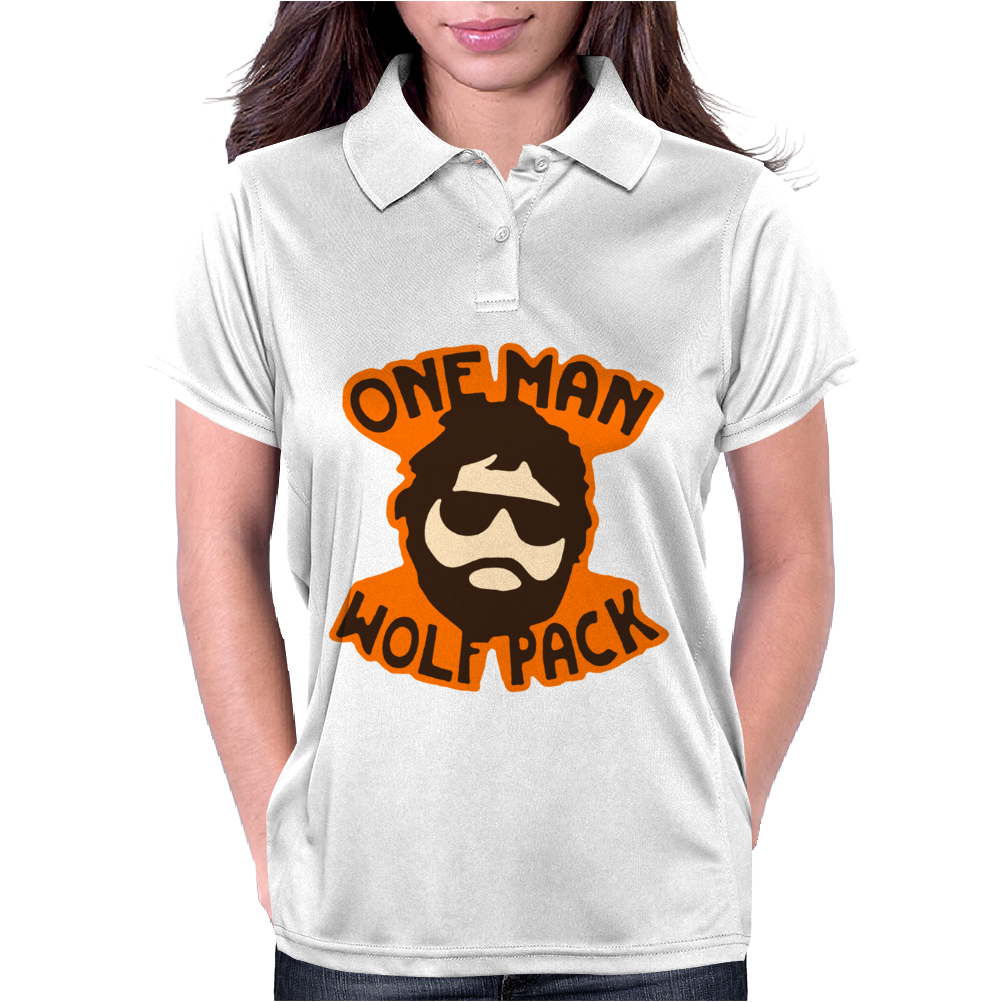 One Man Wolf Pack The Hangover Movie Womens Polo