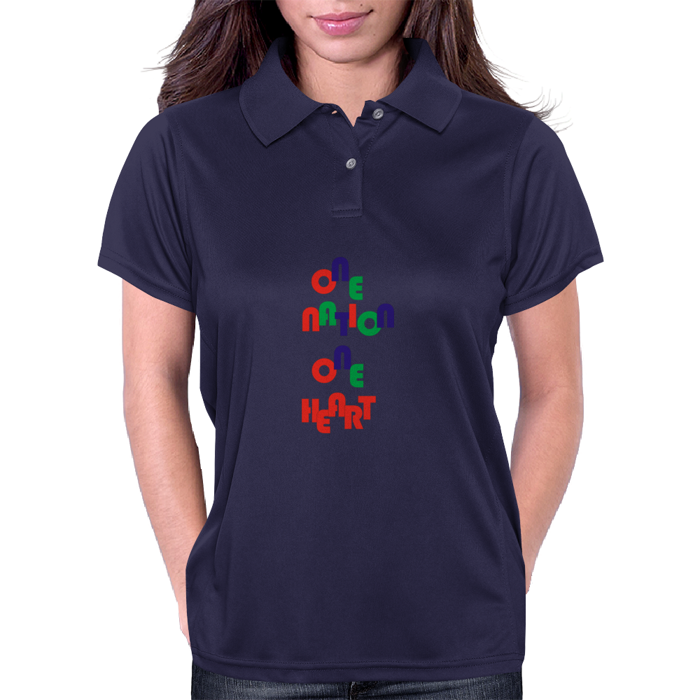 one nation one heart Womens Polo