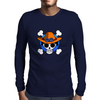 One Piece - Jolly Roger-style logo - Portgas D. Ace Mens Long Sleeve T-Shirt