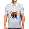 One Piece - Jolly Roger-style logo - Portgas D. Ace Mens Polo