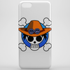 One Piece - Jolly Roger-style logo - Portgas D. Ace Phone Case