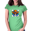 One Piece - Jolly Roger-style logo - Portgas D. Ace Womens Fitted T-Shirt