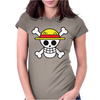 One Piece Skull Womens Fitted T-Shirt