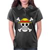 One Piece Skull Womens Polo