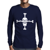 One Piece Whitebeard Flag Luffy Pirates anime TV Mens Long Sleeve T-Shirt