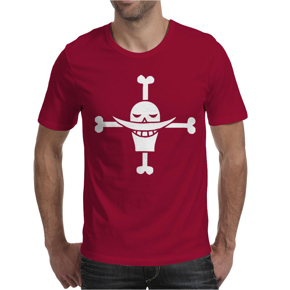 One Piece Whitebeard Flag Luffy Pirates anime TV Mens T-Shirt