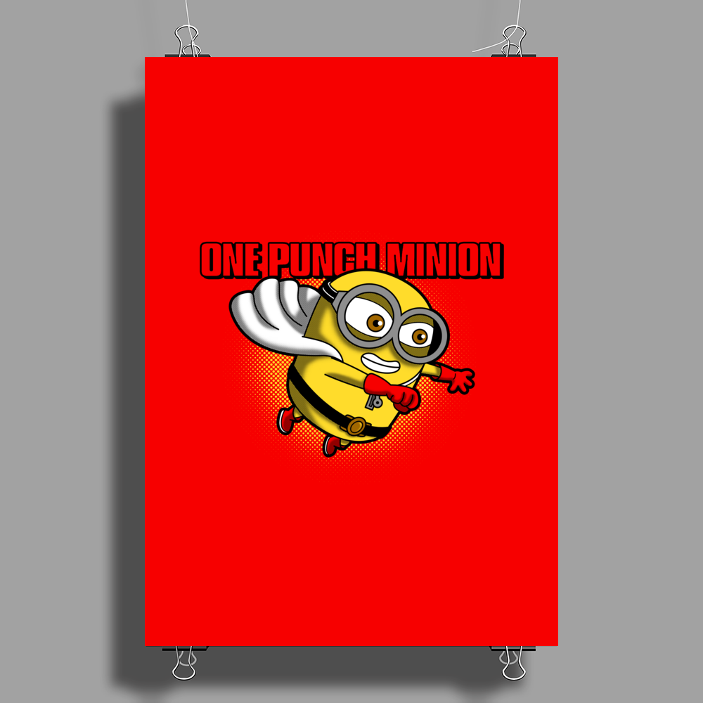 One Punch Minion Poster Print (Portrait)